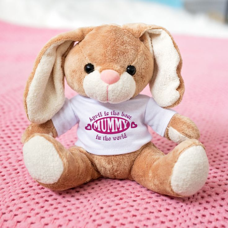 The Best Mummy in the World Personalised Bunny Rabbit product image