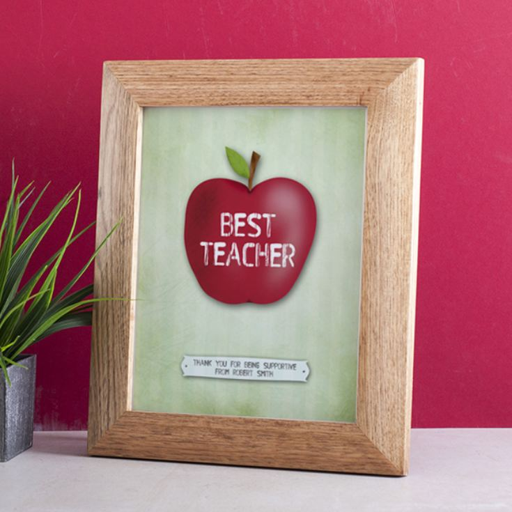 Personalised Best Teacher Apple Framed Print product image