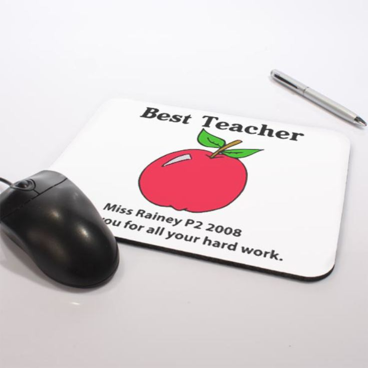 Personalised Best Teacher Mouse Mat product image