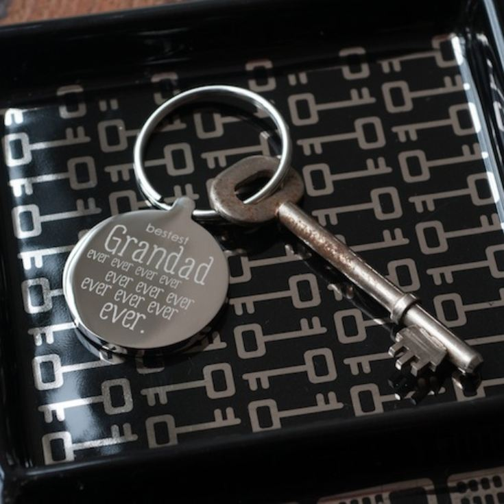 Personalised Bestest Grandad Ever Keyring product image