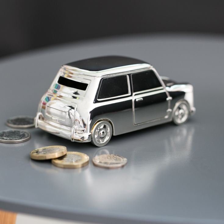 Personalised Silver Plated Mini Money Box product image