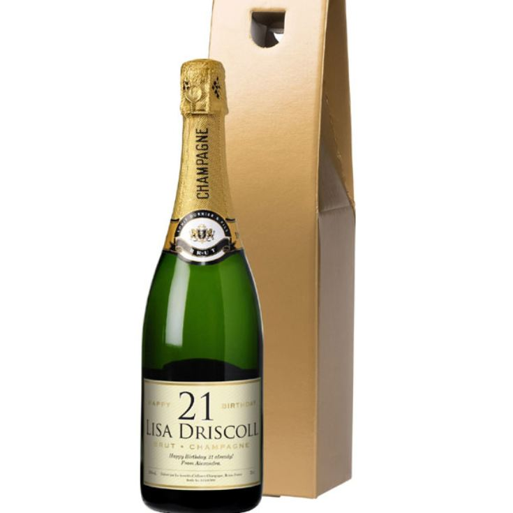 Personalised Birthday Champagne product image