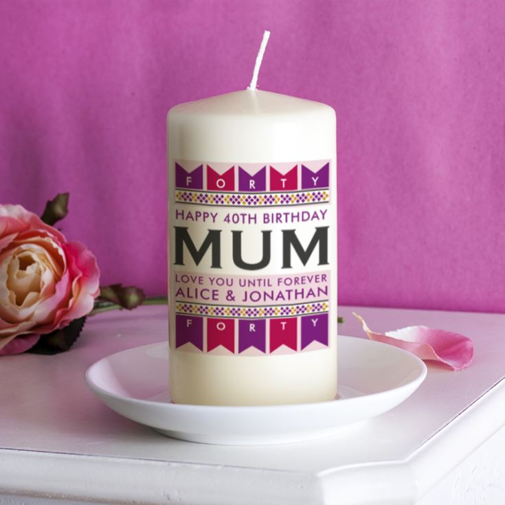 Personalised Female Birthday Age Candle product image