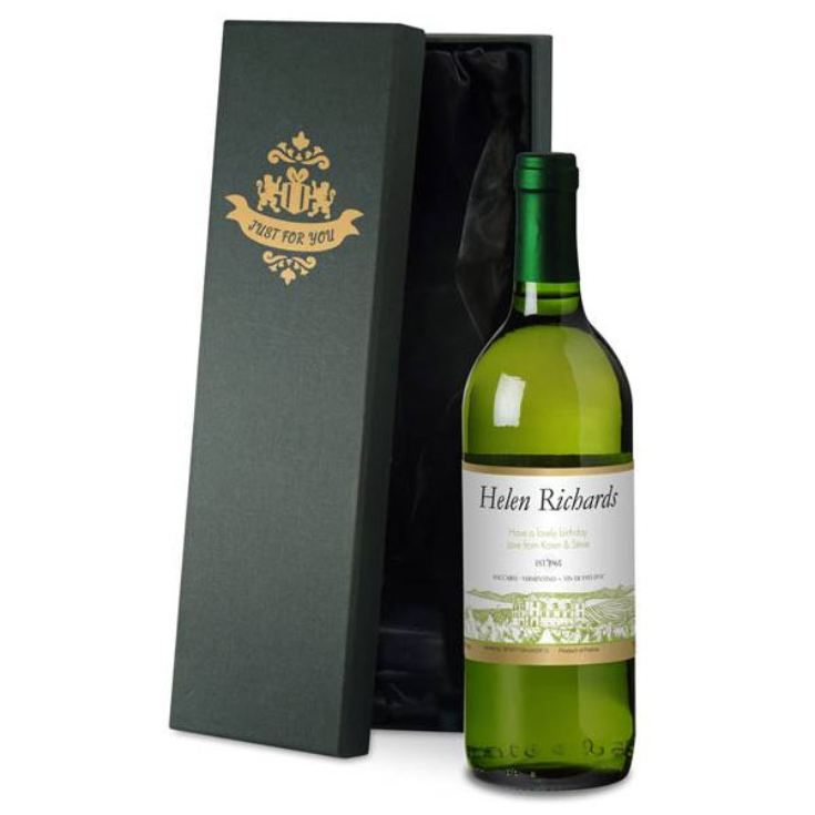 Personalised French White Wine product image