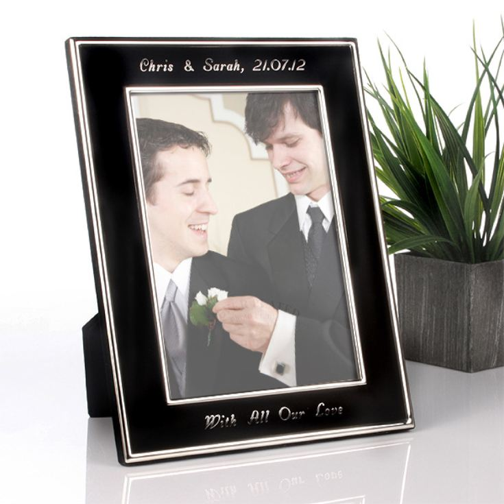 Engraved Black and Silver Frame product image
