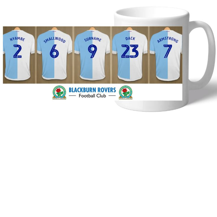 Personalised Blackburn Rovers FC Dressing Room Mug product image
