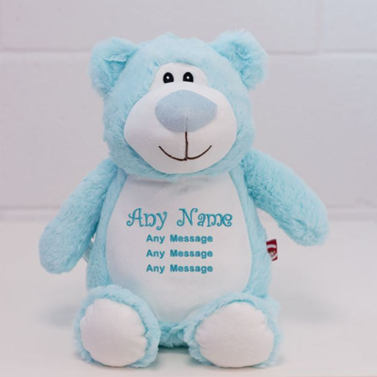 Personalised Embroidered Cubbies Blue Bear Soft Toy product image