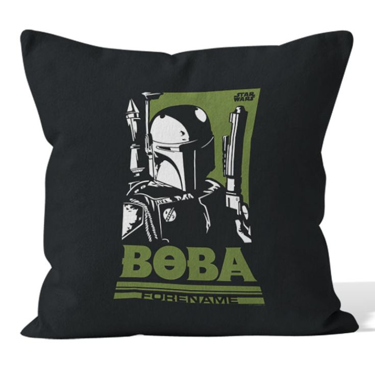 Personalised Star Wars Boba Pop Art Cushion product image