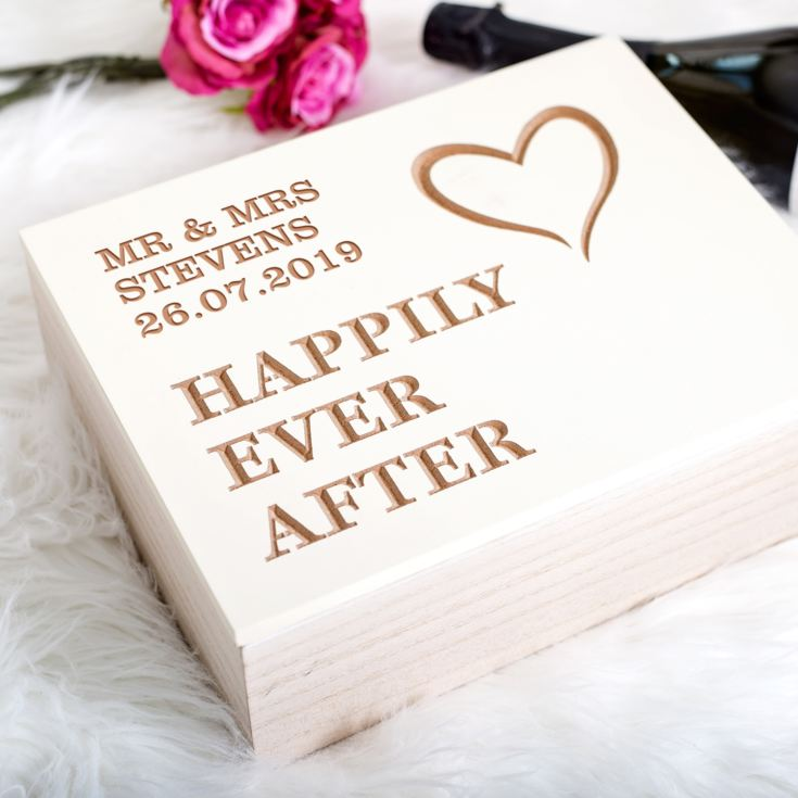 Personalised Happily Ever After Keepsake Box product image