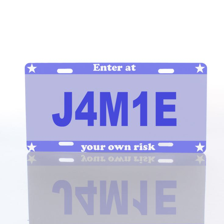 License Plate Door Signs product image