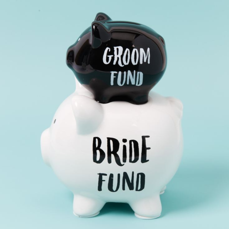Bride & Groom Double Pig Money Bank product image