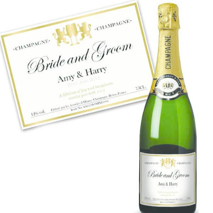 Bride and Groom Personalised Champagne product image
