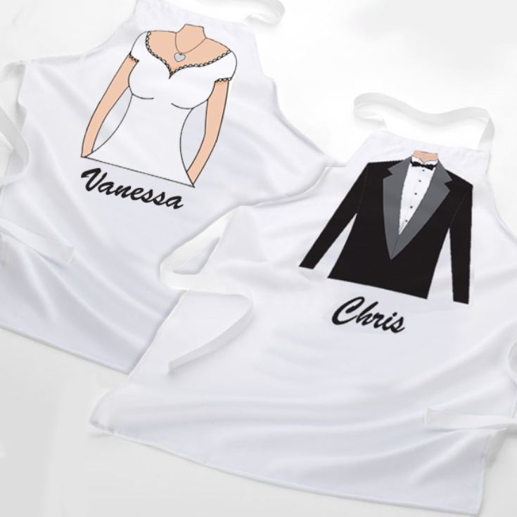 Personalised Novelty Bride & Groom Aprons product image