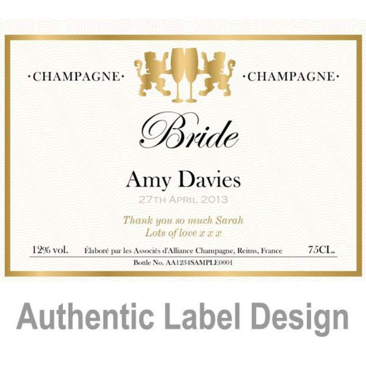 Bride Personalised Champagne product image