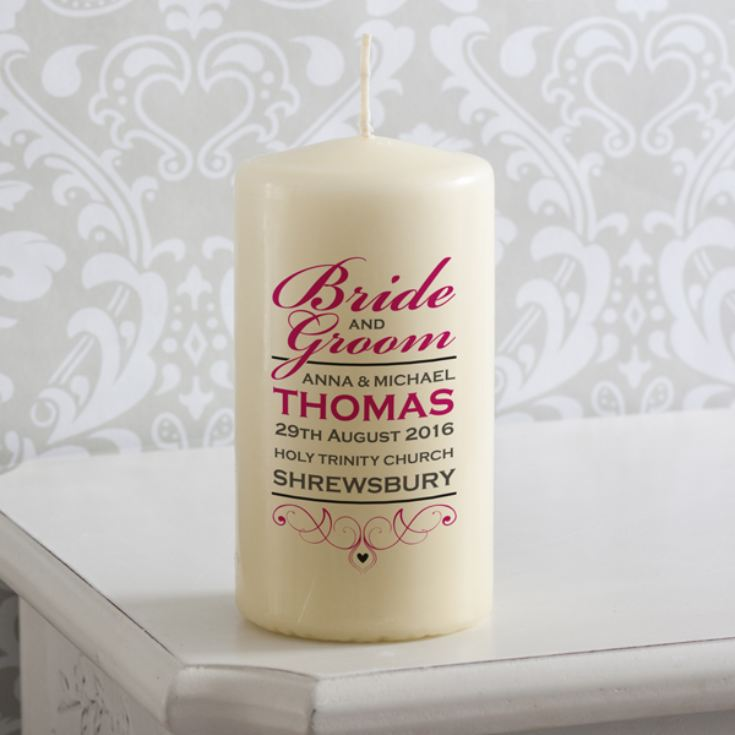 Personalised Bride and Groom Candle product image
