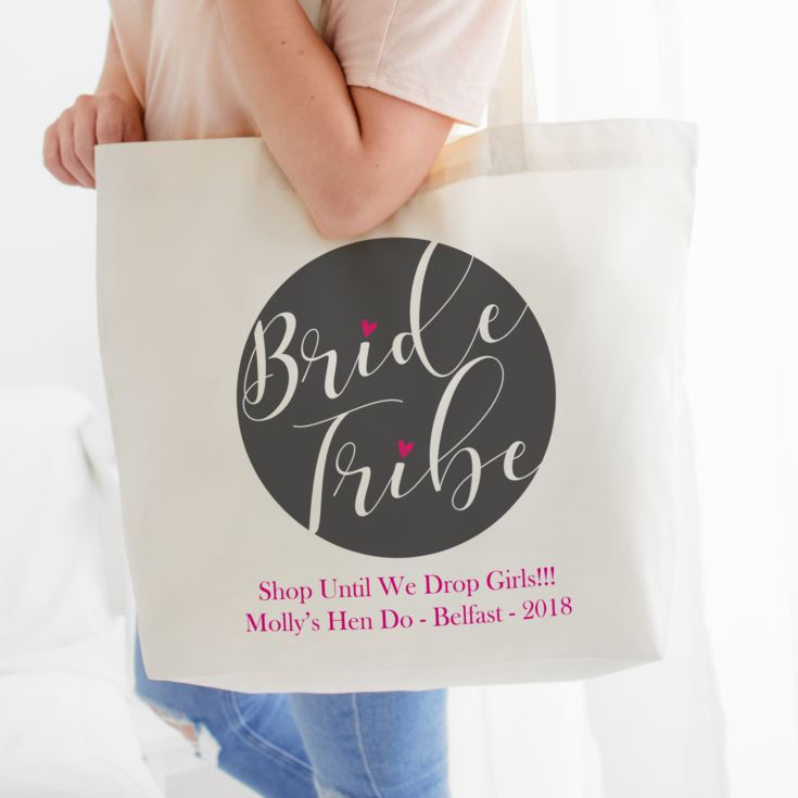 Personalised Bride Tribe Tote Bag product image