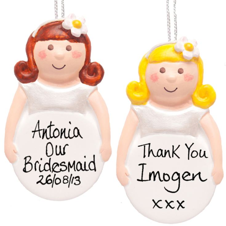 Bridesmaid Personalised Hanging Ornament product image