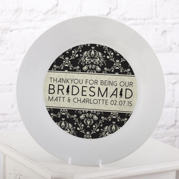 Personalised Bridesmaid Plate product image