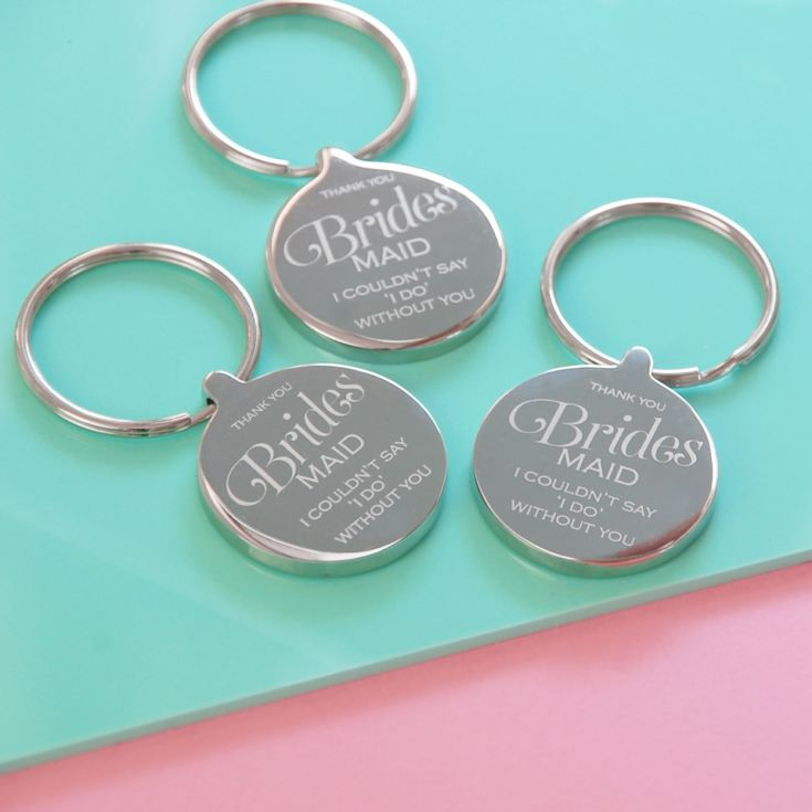 Bridesmaid Personalised Wedding Keyring product image