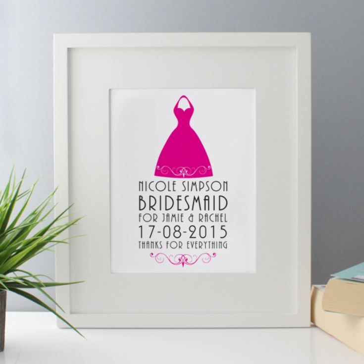 Personalised Bridesmaid Framed Print product image