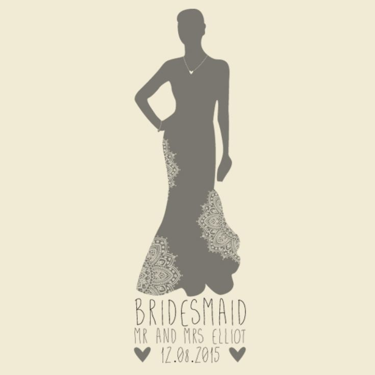 Personalised Bridesmaid Silhouette Tote Bag product image