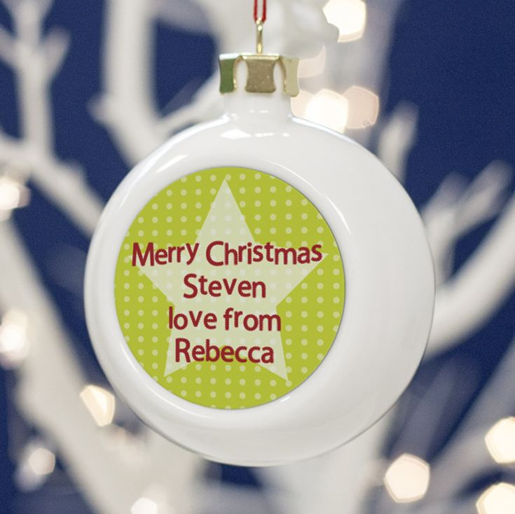 Personalised Brother Christmas Bauble product image