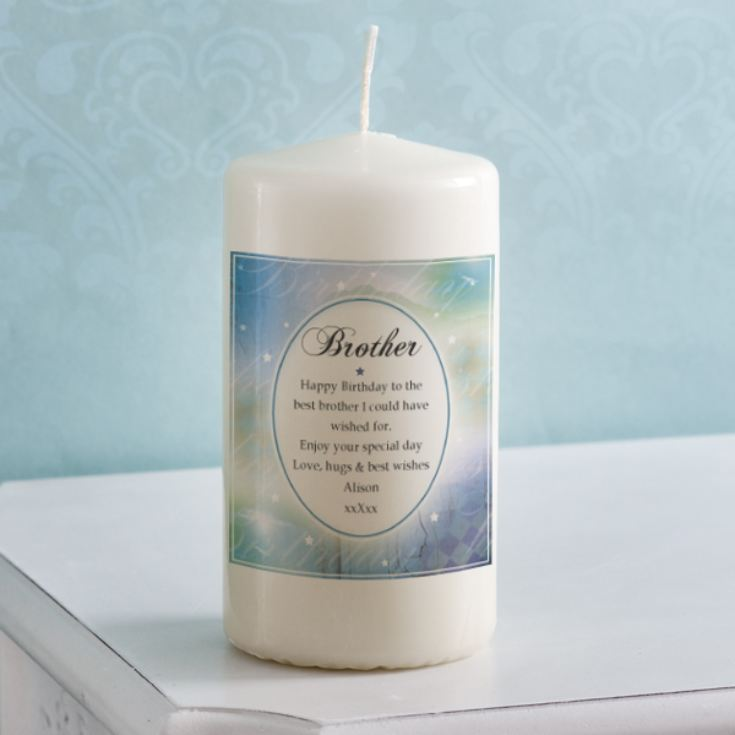 Personalised Birthday Wishes Brother Candle product image