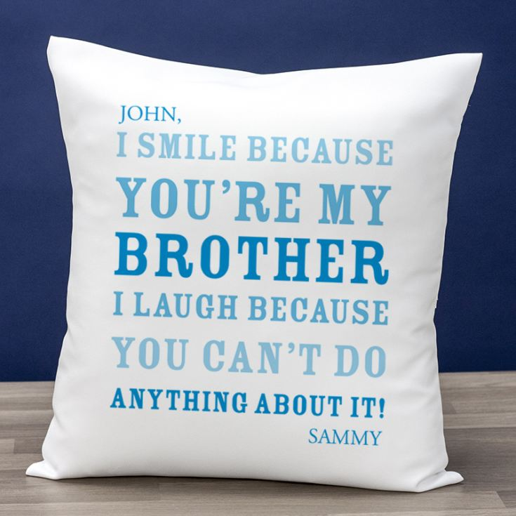 Personalised Brother Smile Cushion product image