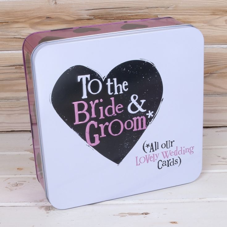 Bride & Groom Wedding Cards Tin product image