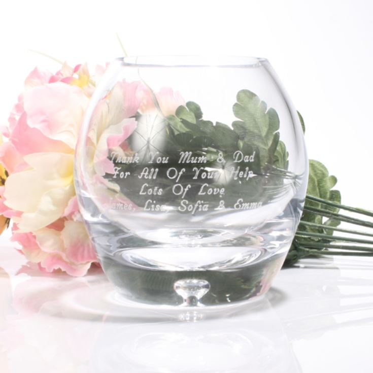 Personalised Bubble Base Tea Light Holder product image