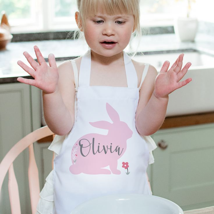 Personalised Bunny Rabbit Children's Apron product image