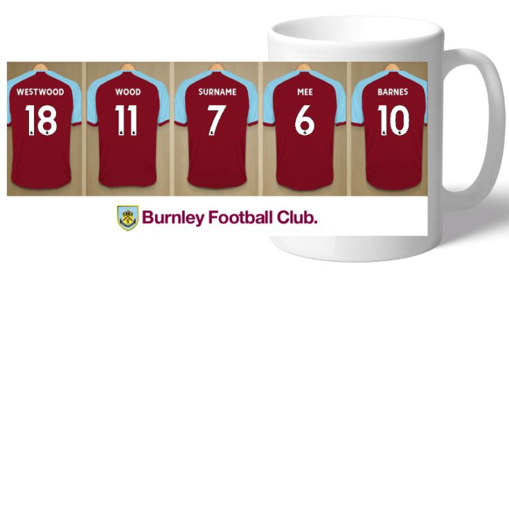 Personalised Burnley FC Dressing Room Mug product image
