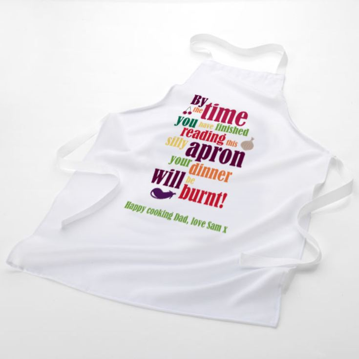 Your Dinner Will Be Burnt Personalised Apron product image
