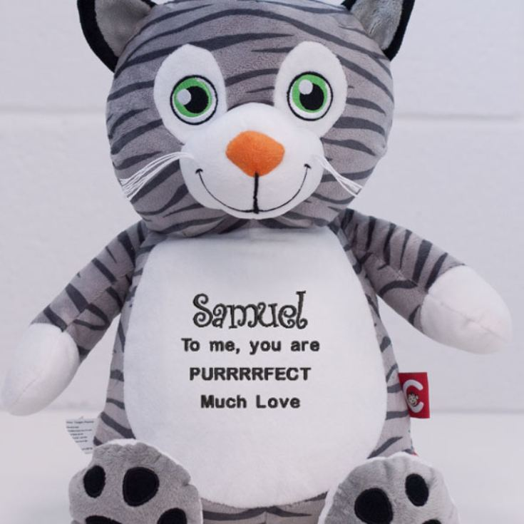 Personalised Embroidered Cubbies Mr Miowgi Cat product image