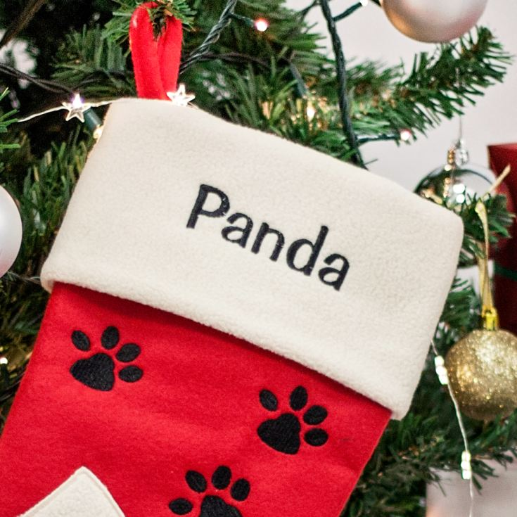 Personalised Embroidered Luxury Cat Stocking product image