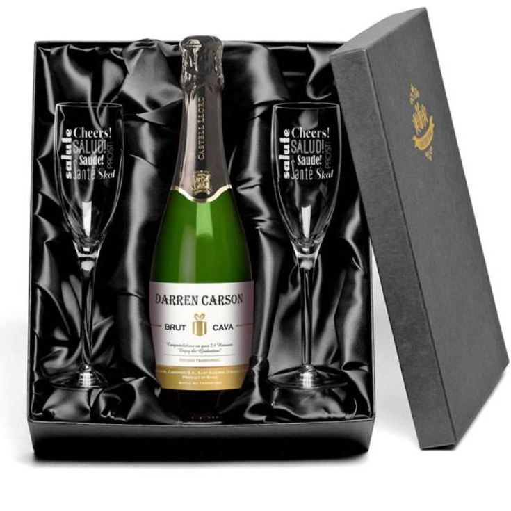 Personalised Cava and Glasses Gift Set product image