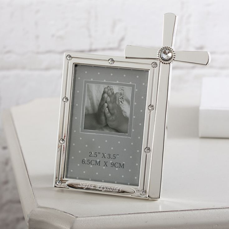 Personalised Crystals Frame And Cross product image