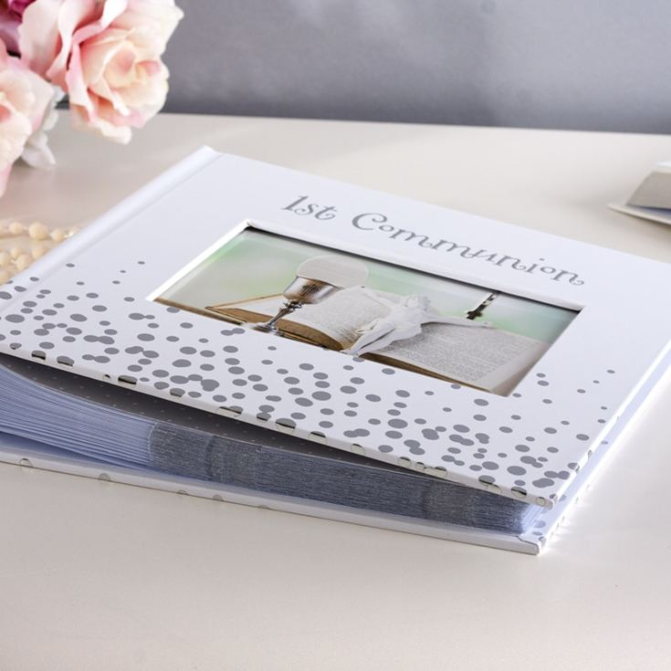 Personalised Bless This Child 1st Communion Silver Dots Album product image