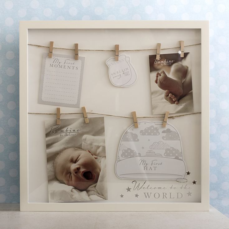 Bambino Welcome To The World Hats & Mittens Box Frame product image