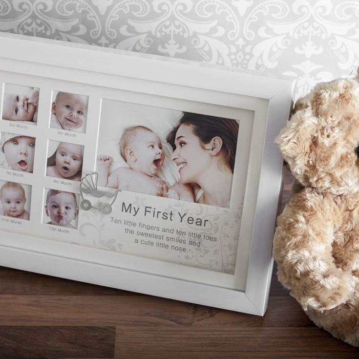 My First Year White Collage Photo Frame product image