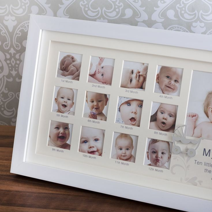 My First Year White Collage Frame The Gift Experience