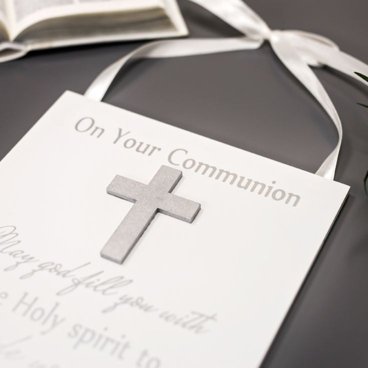 Communion Celebrations Hanging Plaque product image