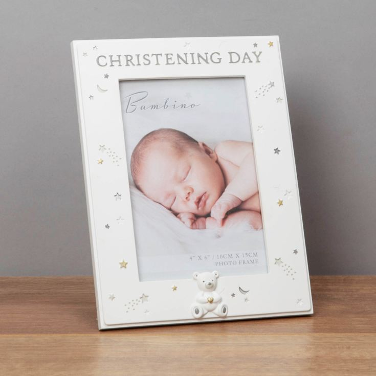 Bambino Christening Day Photo Frame With Teddy product image