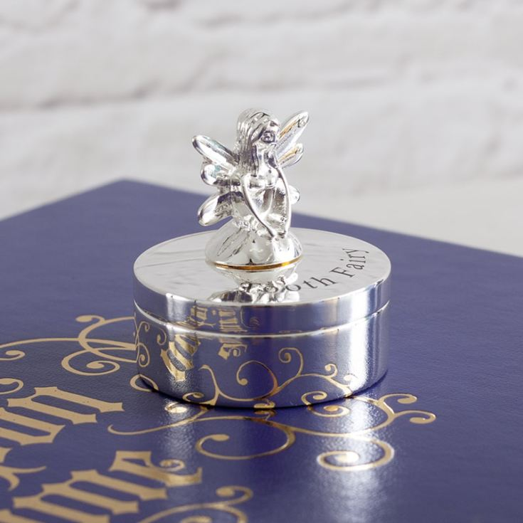 Silver Plated Tooth Fairy Trinket Box product image
