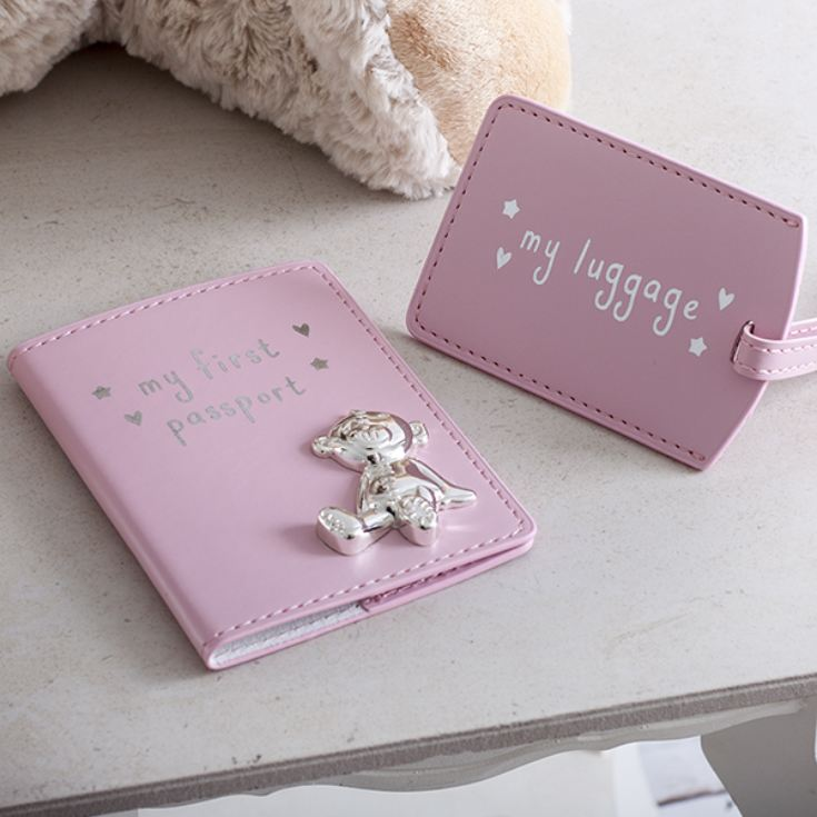 My First Passport And Luggage Tag Set Pink product image