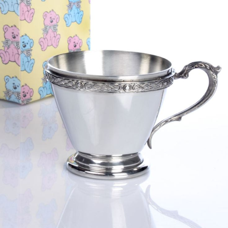 Personalised Celtic Design Baby Cup product image