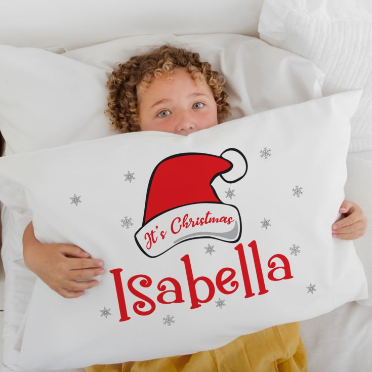 Personalised It's Christmas Pillowcase product image