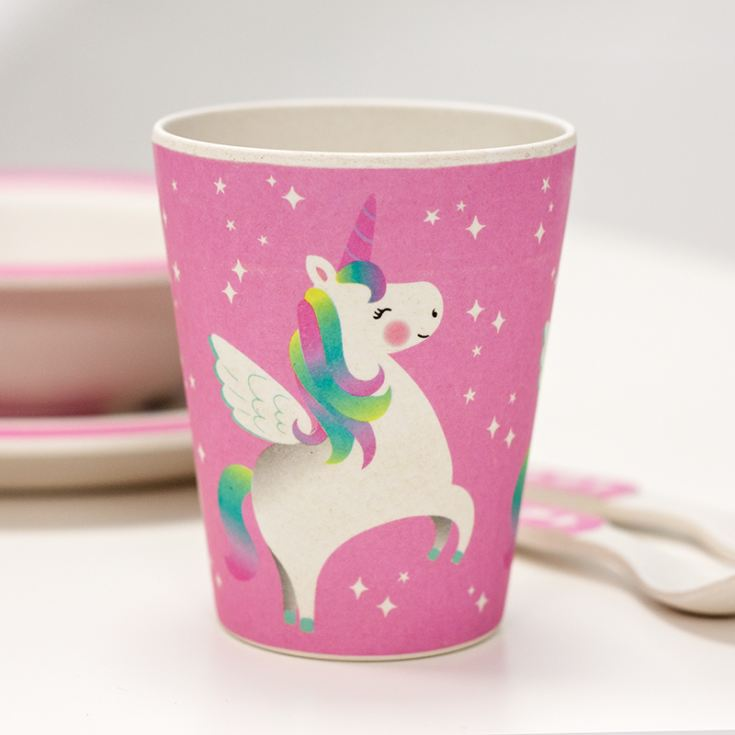 Rainbow Unicorn Bamboo Tableware Set product image
