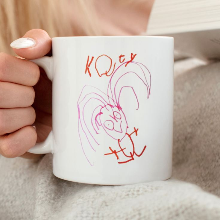 Your Childs Art on a Personalised Mug product image