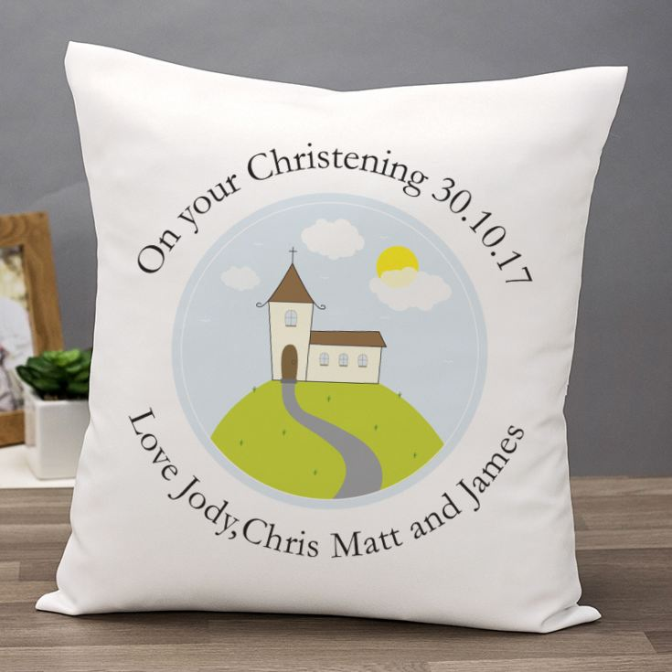 Personalised Christening Cushion product image